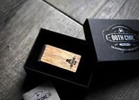 Handcrafted wood money clip - Goth Chic MIlano $23.00