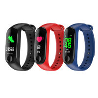 "XANES M3D 0.96"" OLED Color Screen IP67 Waterproof Smart Bracelet Pedometer Heart Rate Blood Pressure Monitor Fitness Smart Watch"
