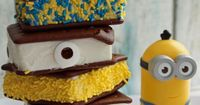 These fun minion ice cream sandwiches are easy to make for your next Despicable Me party or Minions movie watching night!