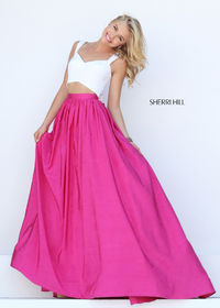 Sherri Hill 50458 Fun & Flirty Sleeveless Crop Top Dress Sale