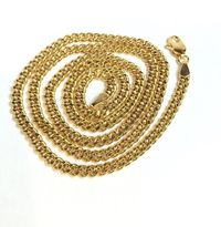 """MEN'S GOLD PLATED FLAT CUBAN LINK CURB CHAIN 8MM 30"""" HIP HOP BLING NECKLACE  Special Features: Specially designed to look like a necklace that cost thousands Dimensions: Length : 30 inches, Width : 8mm"""