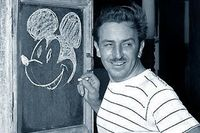 Walt Disney drawing of Mortimer mouse name before mickey mouse. He got the name Mickey from Mickey Rooney. Just a bit of trivia