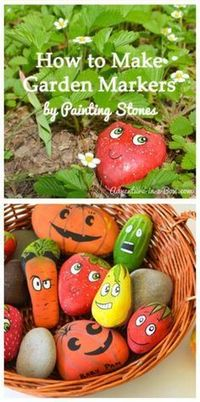 How to Make Garden Markers by Painting Stones: What do you think? These are so cute!