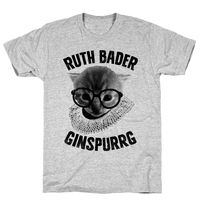 Who do you know who would love this? Ruth Bader Ginspurrg (Vintage Athletic Gray Unisex Cotton Tee Shirt Handcrafted in the USA! $23.99