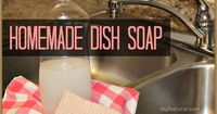 Homemade dish soap is easy to make. It saves you money, helps rid your home of the toxins in commercial cleaners, and is a fun and sustainable project.