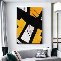 Geometric art framed painting Abstract Painting on canvas art acrylic yellow and black painting wall pictures Large wall art nordic painting $89.00