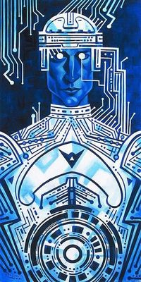"""Tron in Silicon"" By Tim Rogerson - Limited Edition Giclée on Canvas"