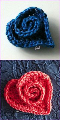 Crochet Heart Rose Free Pattern with Video Tutorial