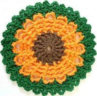 #Flower #Dishcloth: free #crochet pattern
