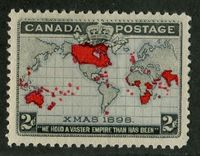 A Beautiful Mint Christmas Stamp of Canada From 1898
