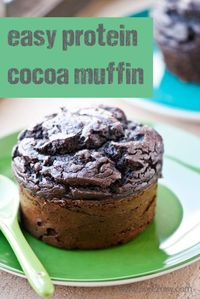 """Single serving protein muffin recipe. Gluten-free low sugar protein muffin recipe that serves one. she is enjoying our new love �€"""" a sugar free protein packed ch"""