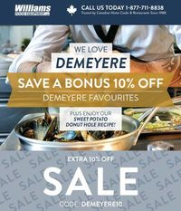 Get an extra 10% OFF on Stainless Steel Cookware by Demeyere!  Do you love stainless steel cookware? You're in for a definite treat!  We have a bonus offer - 10% off on Demeyere products!  Check out our extensive collection now and coo...