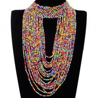 Fashion Jewelry Full Colorful Resion Collar Charm Cluster Pendant Statement Necklace New