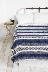 Mexican Falsa Blanket $24 I kind of love this, but not in acrylic. Why is everything from UO synthetic?