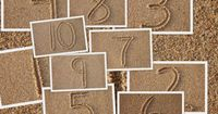 Numbers in the sand table numbers