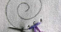 Petal Chain Stitch - One of 48 very well written tutorials with step by step photos by Sarah. ~ Picture Dictionary for all 48 Tutorials found here: http://www.embroidery.rocksea.org/reference/picture-dictionary
