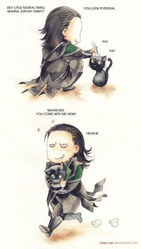 Yes Loki would own a black cat! Cause they are badass and all.. At least my cats think so!