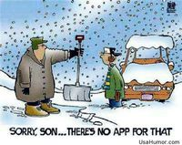 Funny winter apps problems