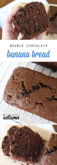 Wow your family and friends with this delicious and easy chocolate banana bread recipe - small loaves make perfect gifts!