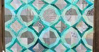 Baby it's cold outside�€�. Icicles by Wombat Quilts, free pattern download available. Love the color combination