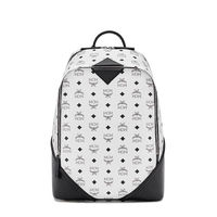 MCM Medium Duke Visetos Backpack In White