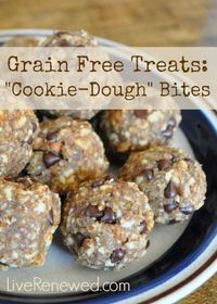 "These delicious and healthy grain-free ""cookie dough"" bites are easy to make and a great snack for your kids!"