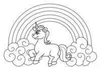 Rainbows and Unicorns Online Coloring Pages.png