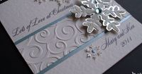 Sparkly Snowflake Christmas Card Personalised by CupidandPsyche ...