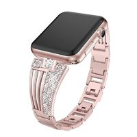 Diamond stainless steel strap link bracelet for apple watch band for iWatch 38mm 42mm 40mm 44mm series 4 3 2 1 $28.99