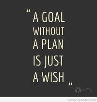Plan goal and wish