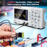 DOS1102 Digital Oscilloscope 100mhz 2chanel Oscillograph 1gsa/s 7'' Tft Lcd Better Than Ads1102cal+ Osciloscope Kit