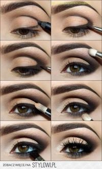 smoky eyes-Super easy application! Moving the applied pencil around makes for a dramatic look & you can use any color you already have. It just has to be a smooth enough texture, like MAC pencils. Love how they dragged the line up into the crease. Smu...