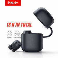 Havit G1 Pro TWS bluetooth 5.0 Earphone Mini Smart Touch Stereo Bilateral Call IPX6 Waterproof Headphone with Charging Box