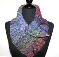Crochet Neckwrap with Buttons