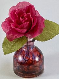 Miniature Alcohol Ink Decorated Flower Vase $7.00