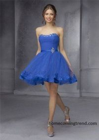 Lace Strapless Short Prom Dresses 2014 For Cheap