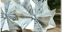When I was visiting my family last summer, my sister-in-law showed me how to make the neatest star ornaments with old book pages. I've been planning on making t