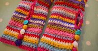 crochet handwarmers, seen on do you mind if i knit