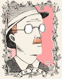 james joyce portrait.  pencil and screenprint. http://mikelowery.com/