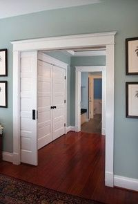 pocket doors, paint colors and benjamin moore.