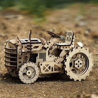 3D Assembly Wooden Puzzle,DIY Assembly Toys,Mechanical Constructor,Tractor Model Building Kit $73.00