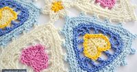 MyPicot | Free crochet patterns Triangle Heart motif Diagram + step by step instructions