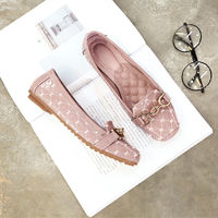 2017 Women Loafers Square Toe Slip On Flats Woman Ladies Pea Preganant Boat Shoes Driving Ballet Femme Chaussure Printemps Femme