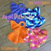Free Crochet Pattern - Angel Dishcloth!