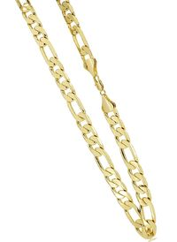 Men's Luxury 14K Gold Plated 12mm Bling Solid Figaro Chain Necklace £45.60