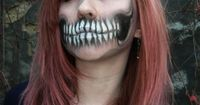 Incredible teeth make-up.. someone do this to me for halloween!