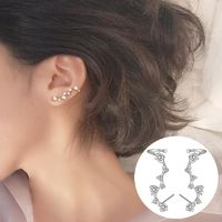 Delicate Star Stud Earring, 925 Sterling Silver Elegant Women Fashion Zircon Crystal Ear Jackets, Star Ear Climber,Gifts for Her $8.18