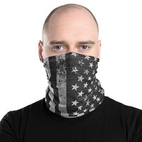 All-Over Print Neck Gaiter Face Mask, USA Flag Face cover, Unisex 12 in 1 Multi-functional Scarf cover, Men and Women $17.95