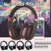 Bluetooth 5.0] Portable Wireless Headphone Foldable TF Card FM Radio Stereo Headset with Mic