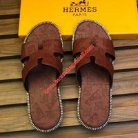 HERMES IZMIR SANDAL EMBOSSED CALFSKIN IN BROWN